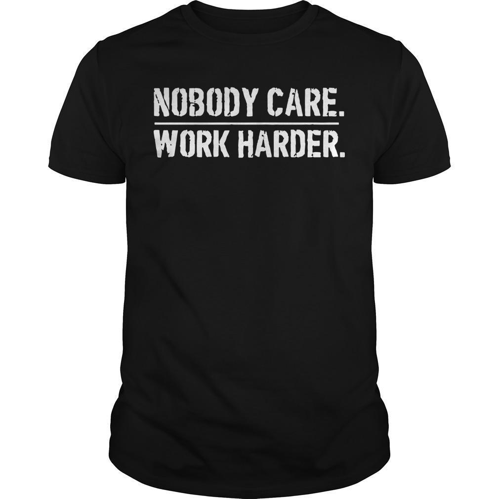 Lamar Jackson Houston Nobody Cares Work Harder T Shirt