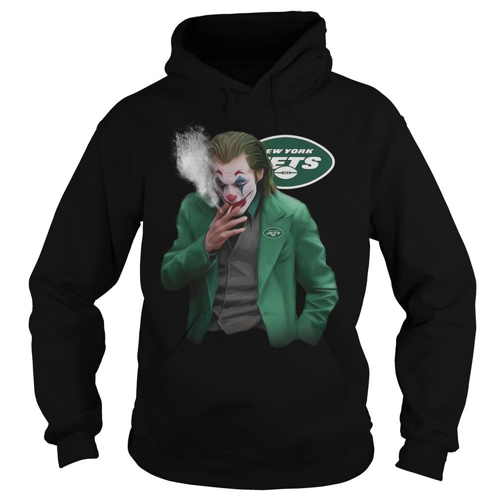 New York Jets Joker Smoking Hoodie
