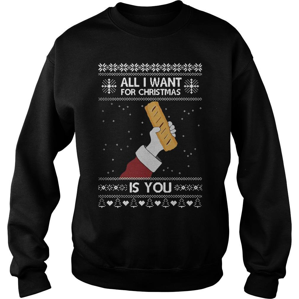 Sausage Roll All I Want For Christmas Is You Sweater