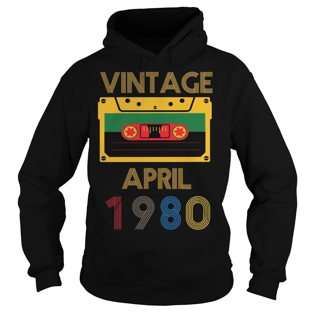 Video Tape Vintage April 1980 Hoodie
