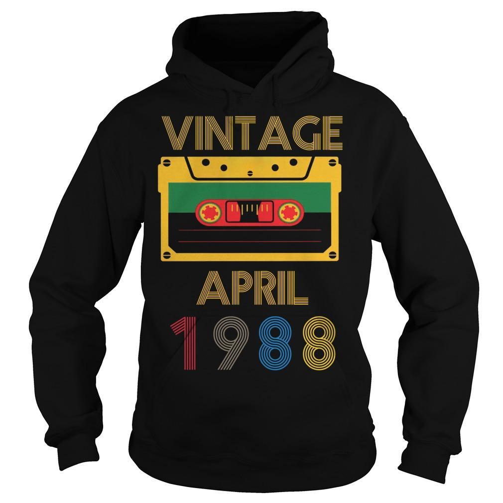 Video Tape Vintage April 1988 Hoodie