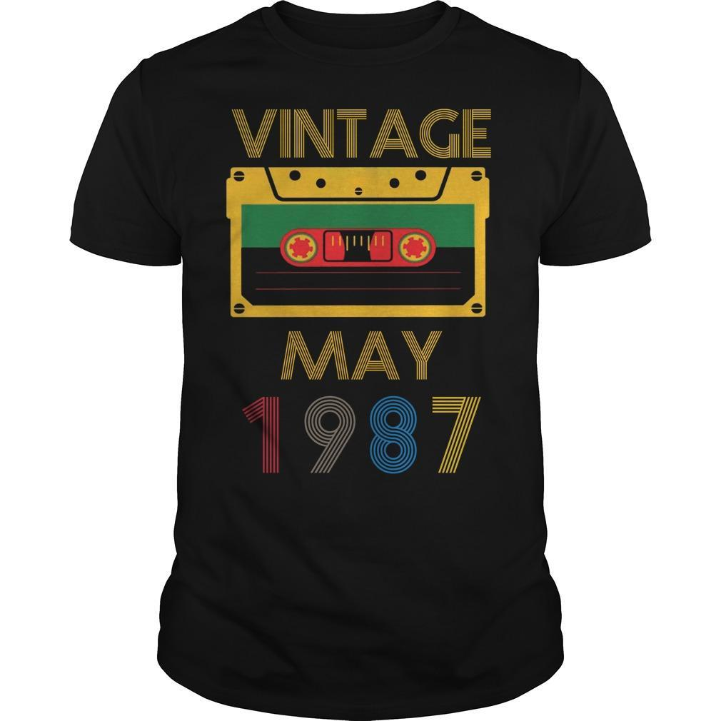 Video Tape Vintage May 1987 Shirt