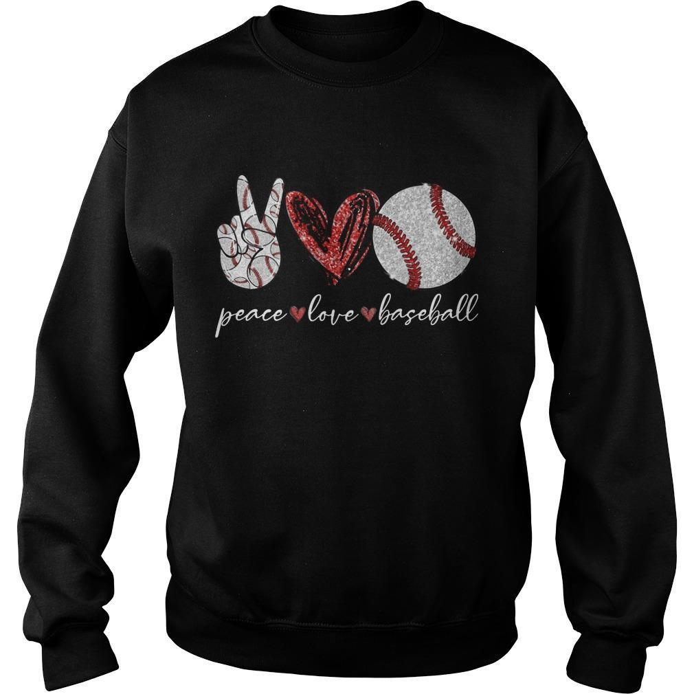 Peace Love Baseball Sweater