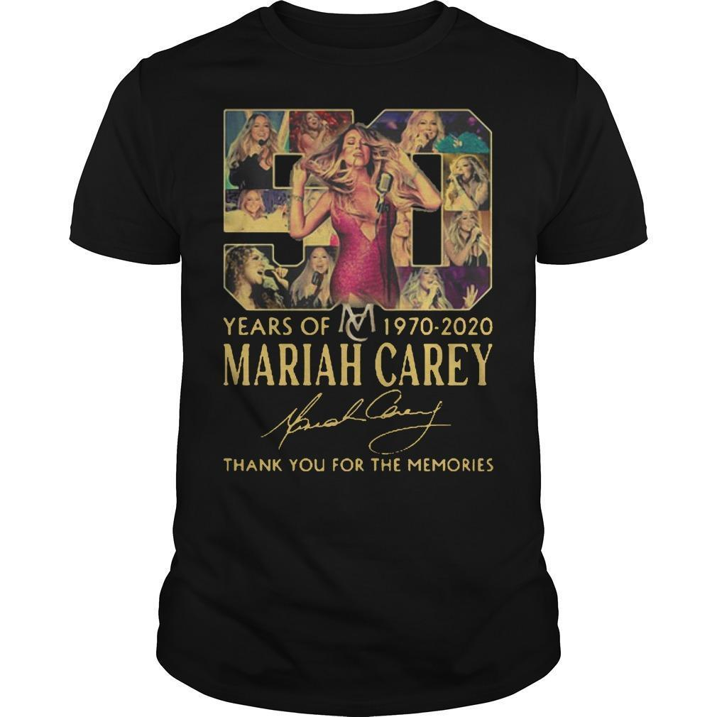 50 Years Of Mariah Carey 1970 2020 Thank You For The Memories Signature Shirt