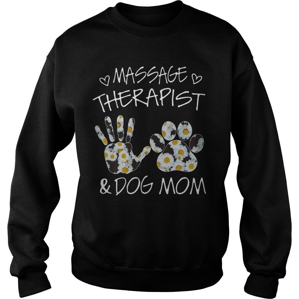 Flower Massage Therapist And Dog Mom Sweater