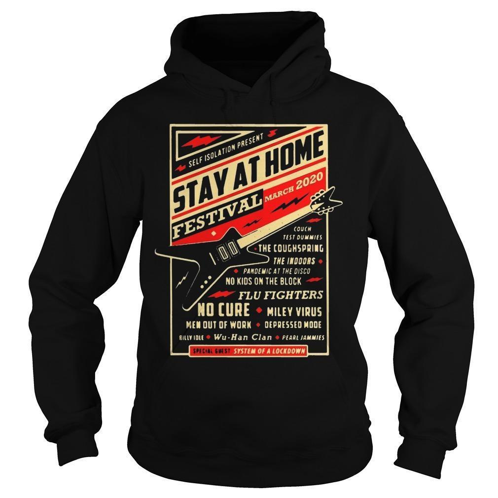 Guitar Self Isolation Present Stay At Home Festival Hoodie