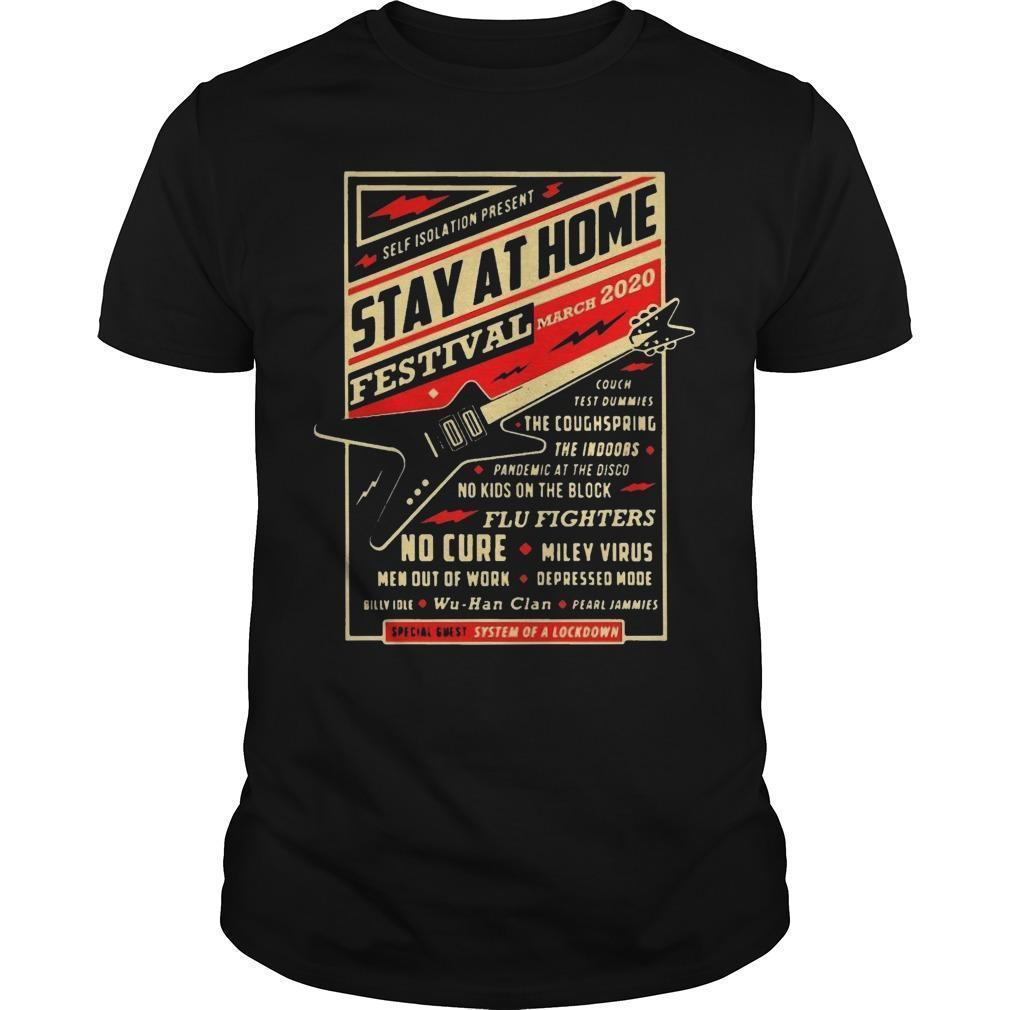 Guitar Self Isolation Present Stay At Home Festival Shirt