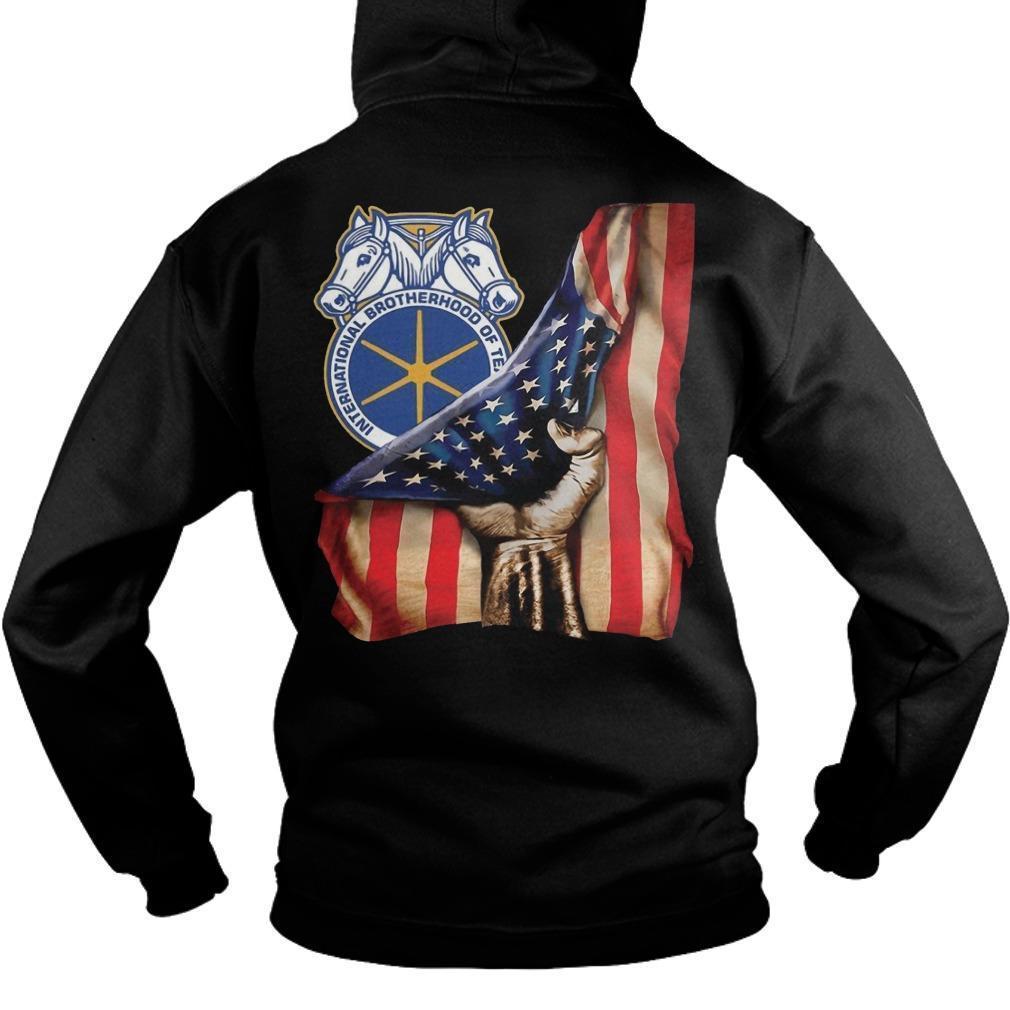 International Brotherhood Of Teamsters American Flag Hoodie