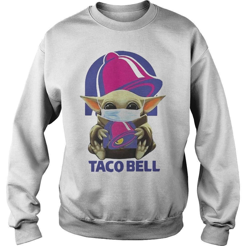 Mask Baby Yoda Hugging Taco Bell Sweater