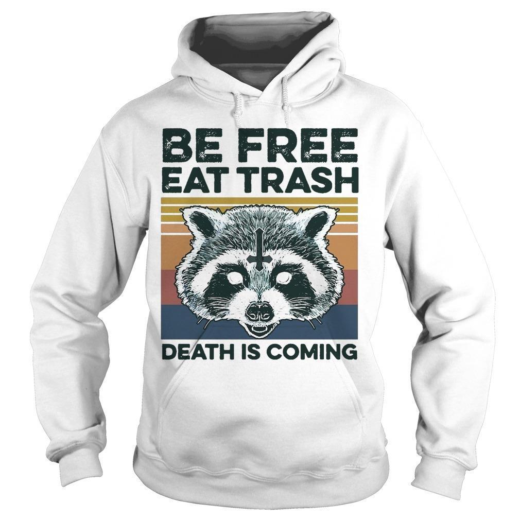 Vintage Raccoon Be Free Eat Trash Death Is Coming Hoodie