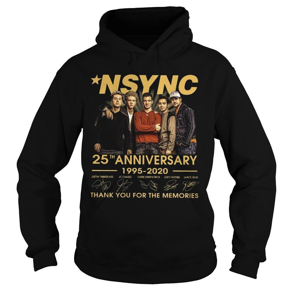 Nsync 25th Anniversary 1995 2020 Thank You For The Memories Hoodie