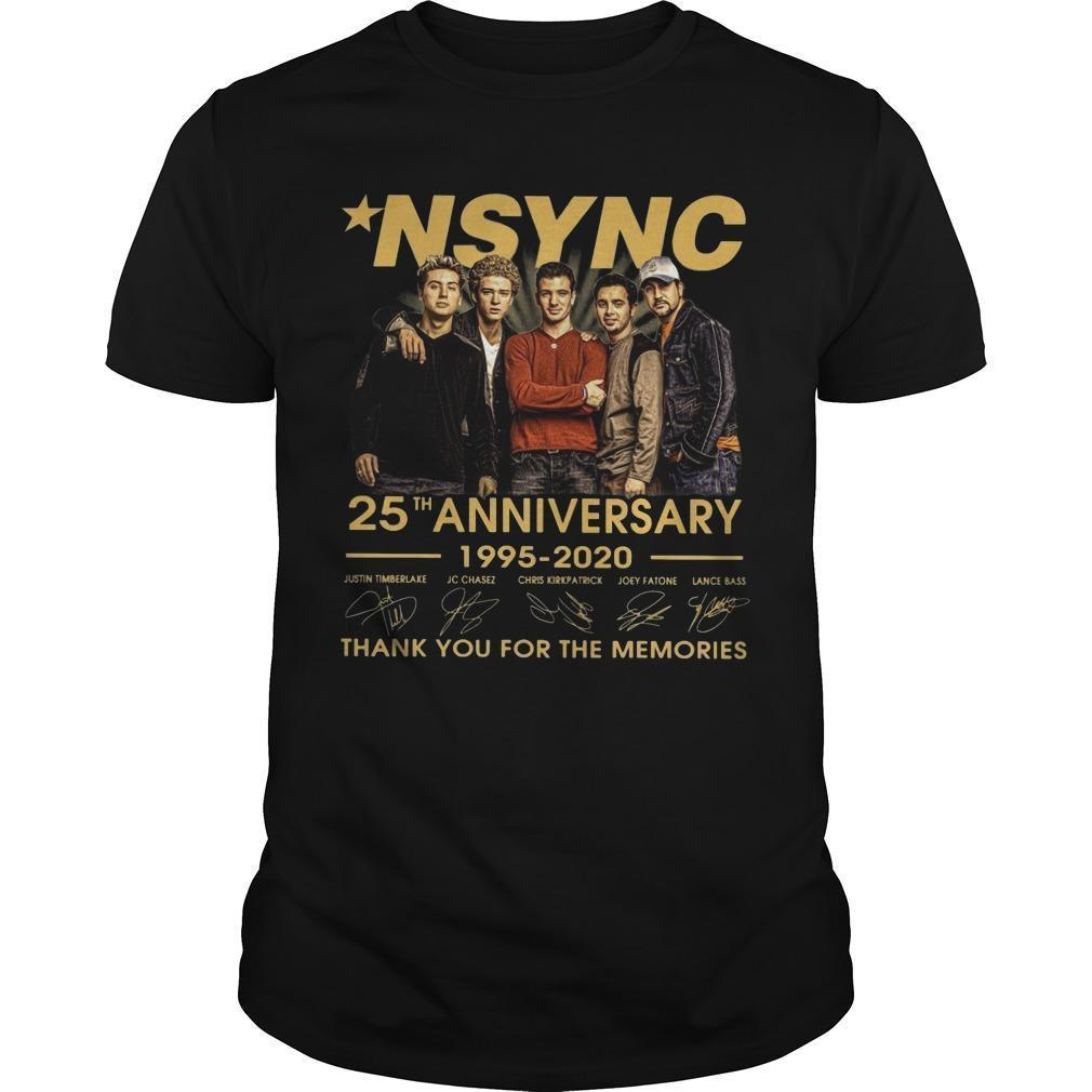 Nsync 25th Anniversary 1995 2020 Thank You For The Memories Shirt