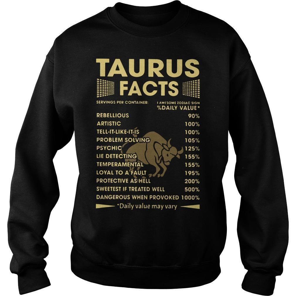 Taurus Facts Servings Per Containers I Awesome Zodiac Sign Sweater