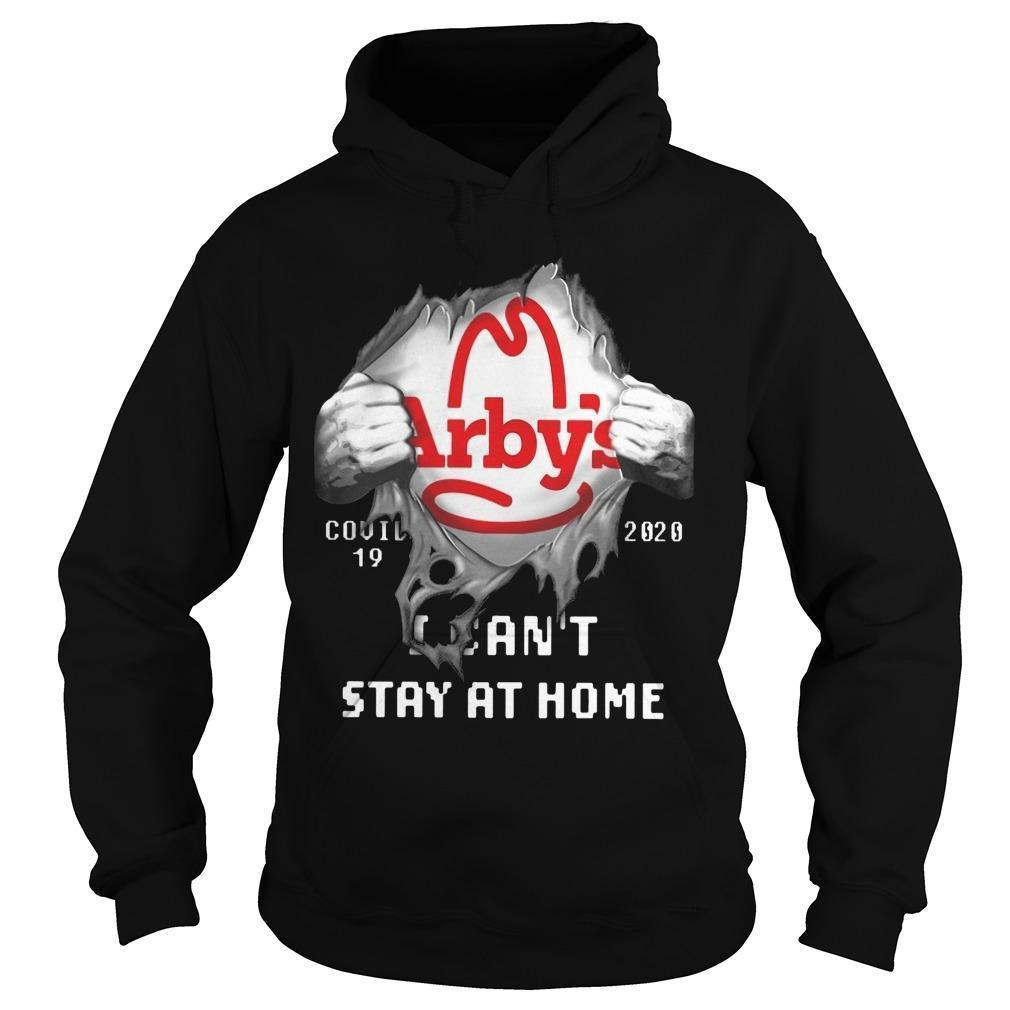 Tearing Arby's Covid 19 2020 I Can't Stay At Home Hoodie