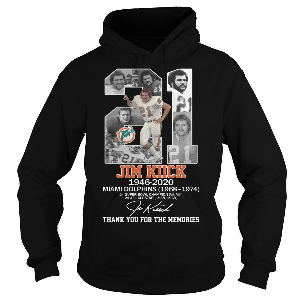 21 Jim Kiick Miami Dolphins Thank You For The Memories Hoodie