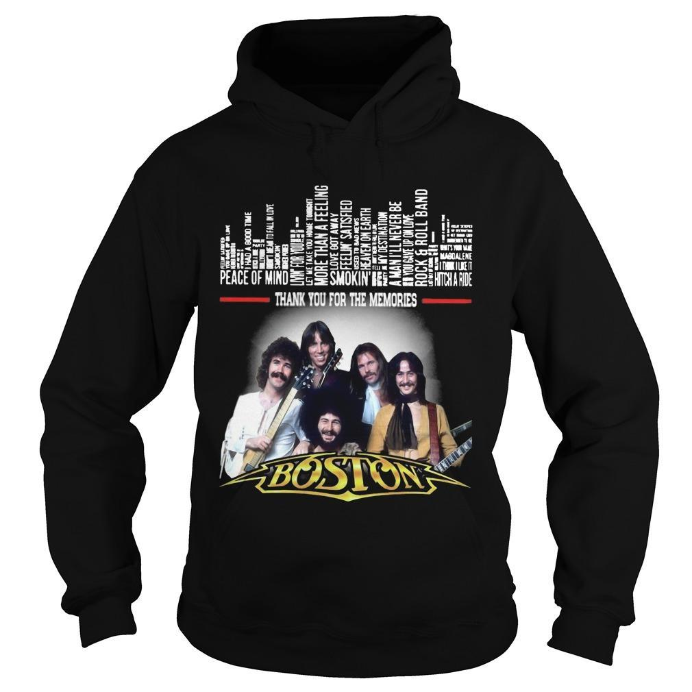 Boston Peace Of Mind Thank You For The Memories Hoodie