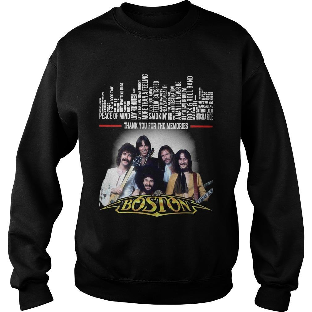 Boston Peace Of Mind Thank You For The Memories Sweater