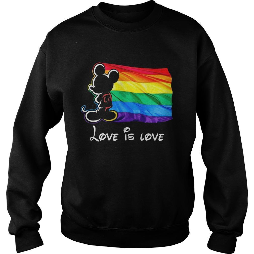 Mickey Mouse Lgbt Flag Love Is Love Sweater