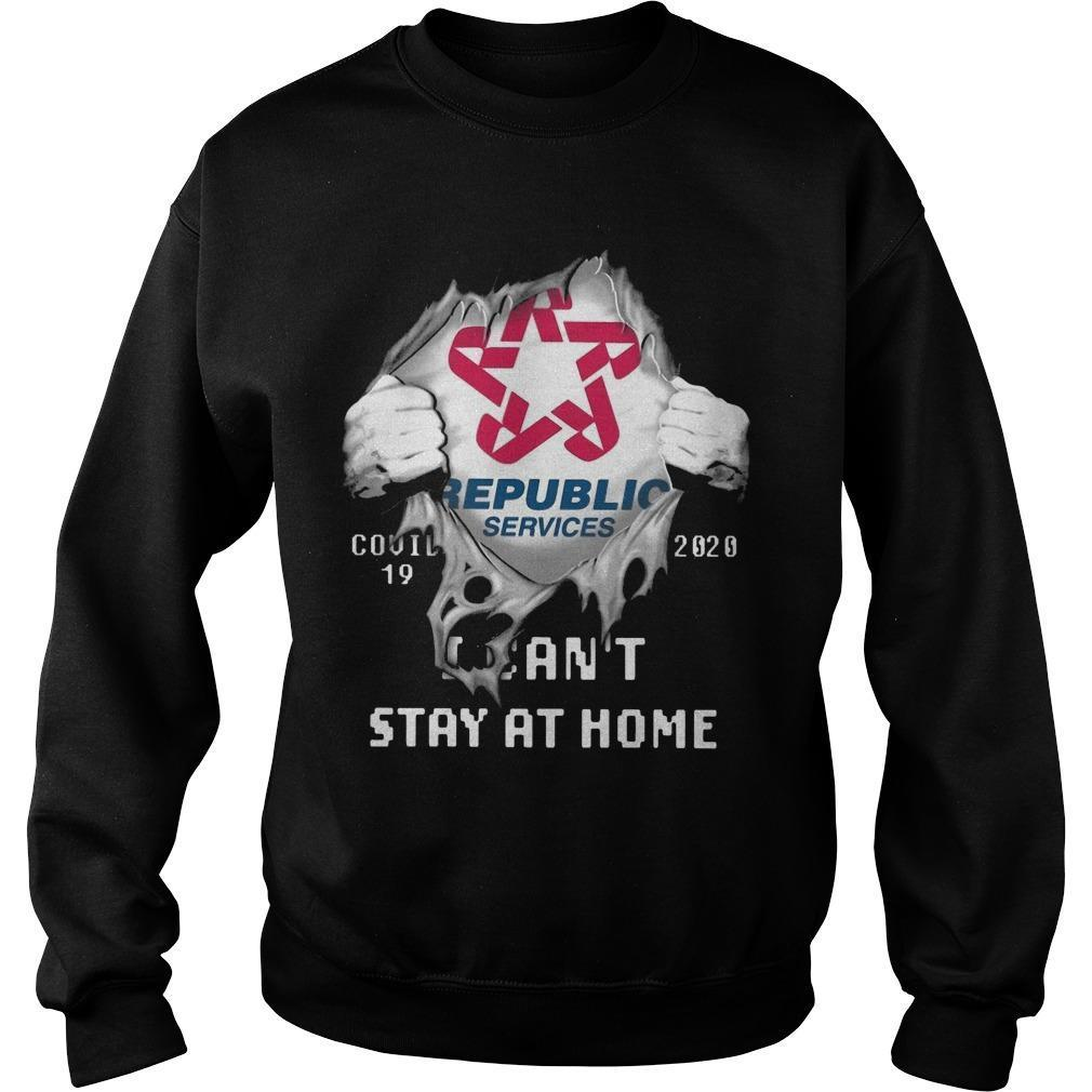 Republic Services Covid 19 2020 I Can't Stay At Home Sweater
