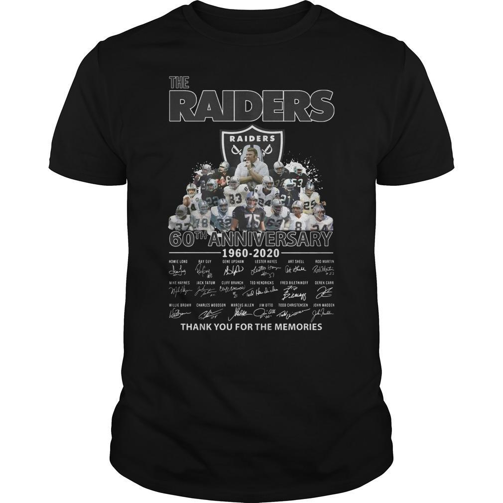 The Raiders 60th Anniversary Thank You For The Memories Shirt