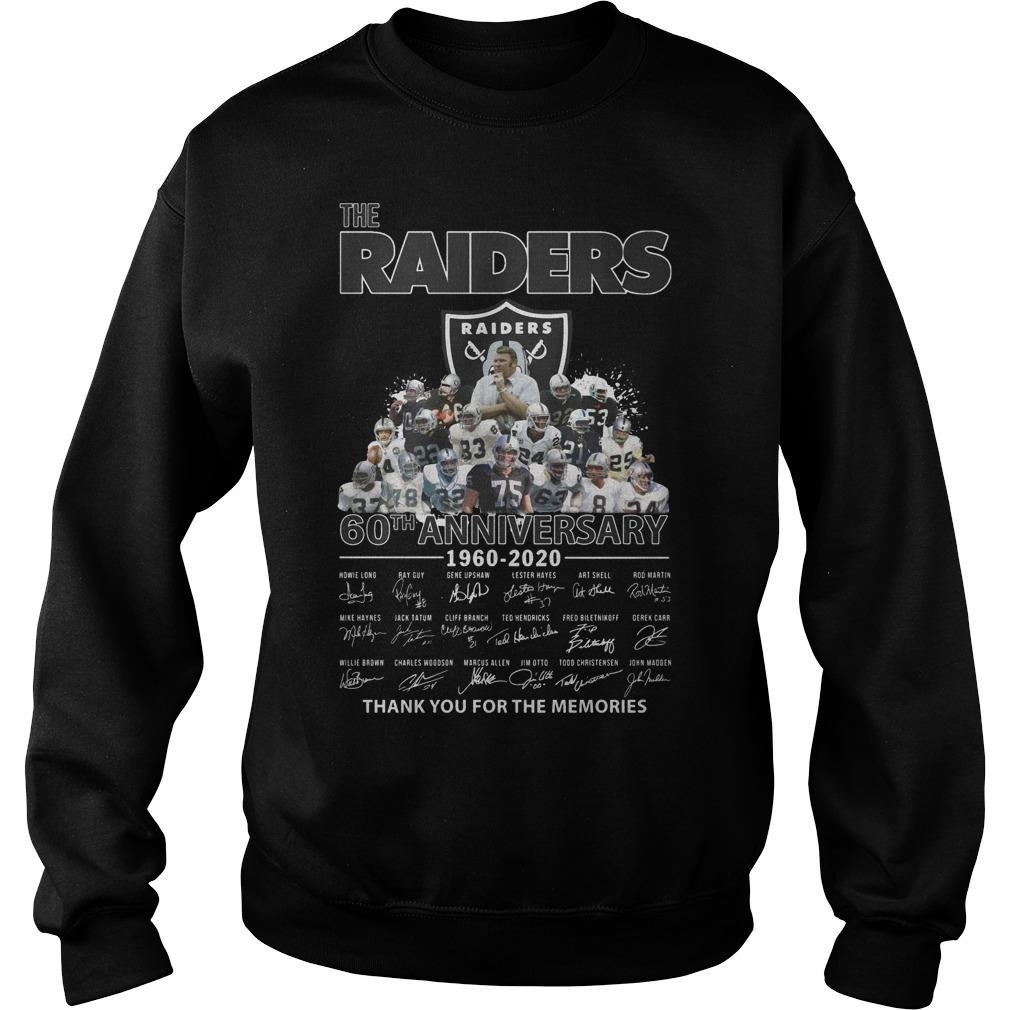 The Raiders 60th Anniversary Thank You For The Memories Sweater