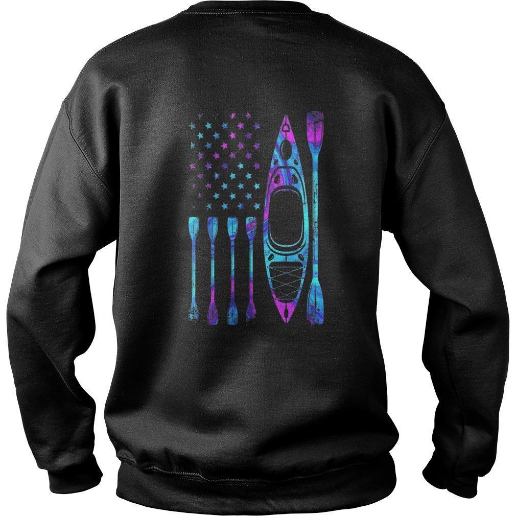 American Flag Kayaking Girl Sweater