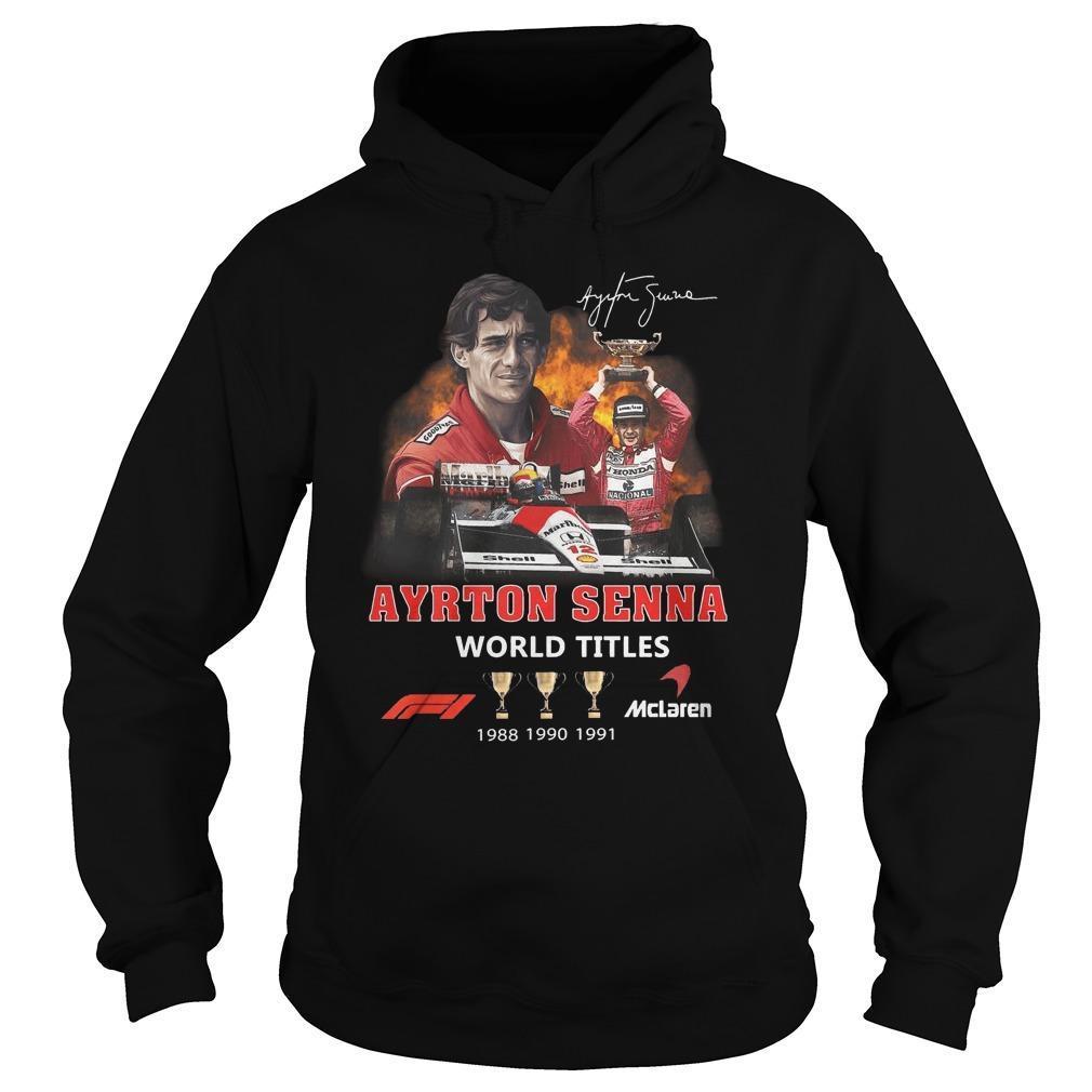 Ayrton Senna Signature World Titles Hoodie