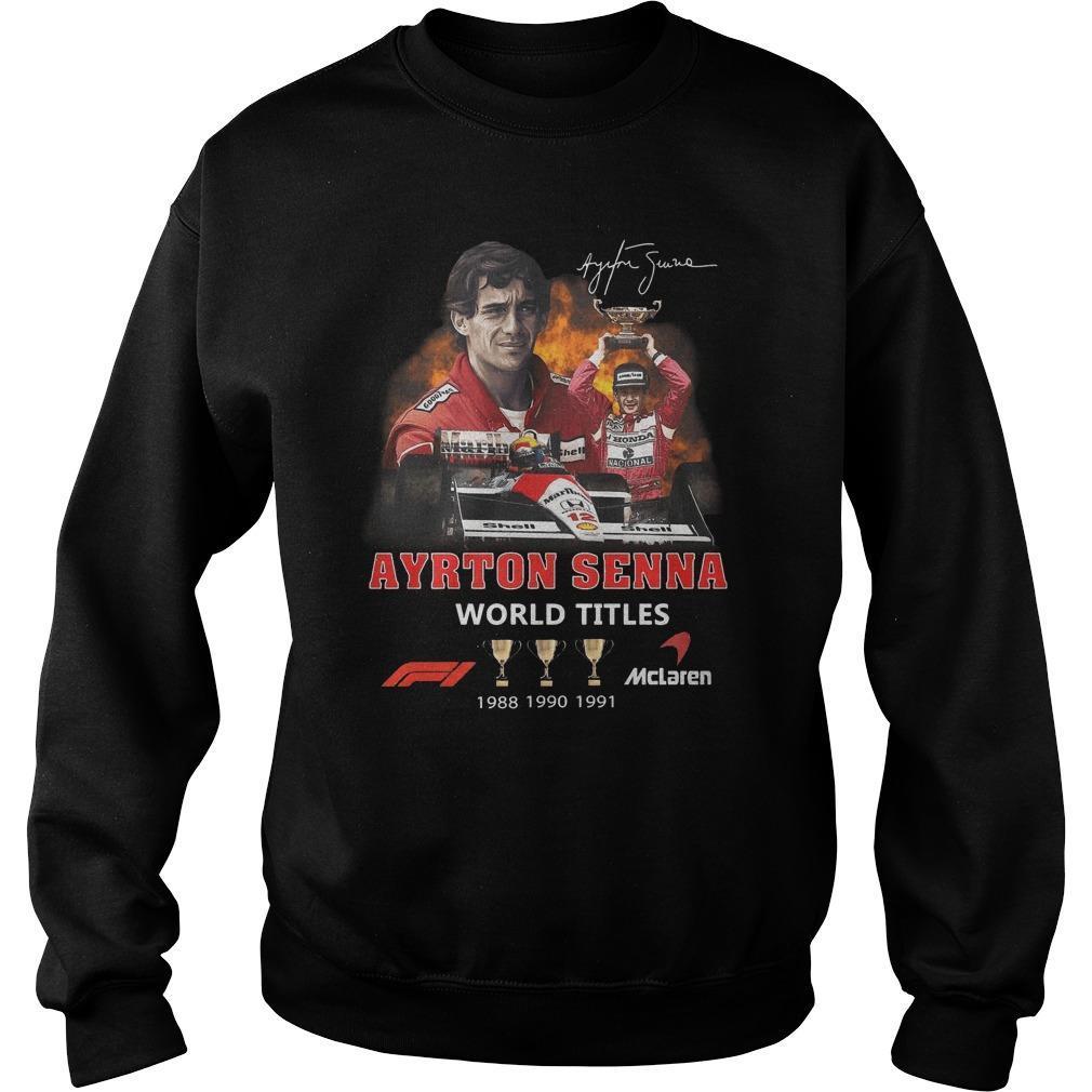 Ayrton Senna Signature World Titles Sweater