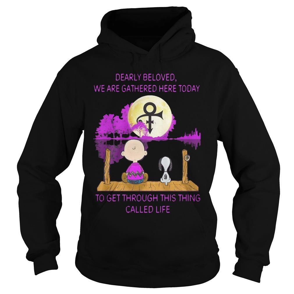 Charlie And Snoopy Dearly Beloved We Are Together Here Today Hoodie