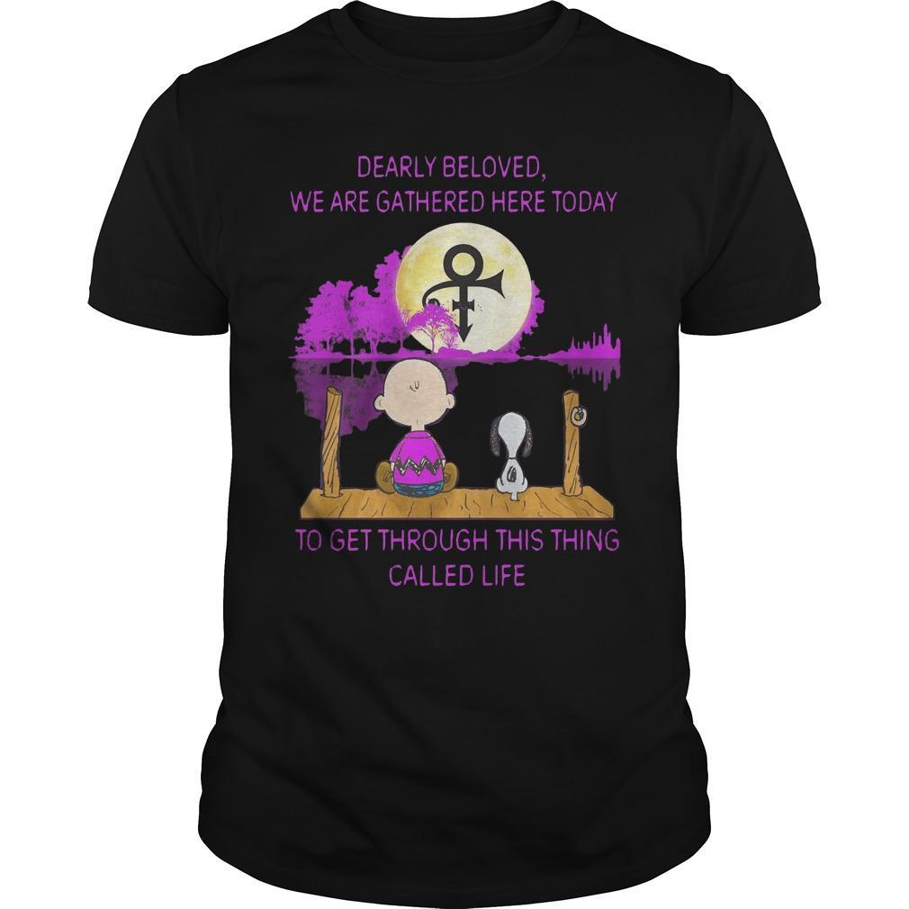 Charlie And Snoopy Dearly Beloved We Are Together Here Today Shirt