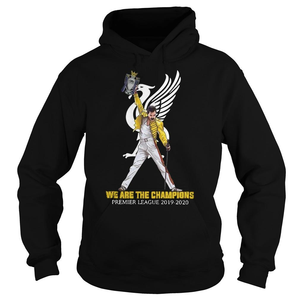 Freddie Mercury Liverpool We Are The Champions Premier League 2019 2020 Hoodie
