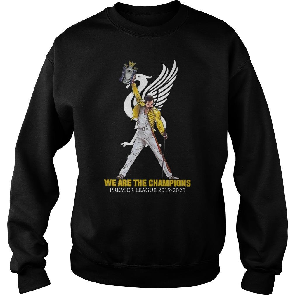 Freddie Mercury Liverpool We Are The Champions Premier League 2019 2020 Sweater