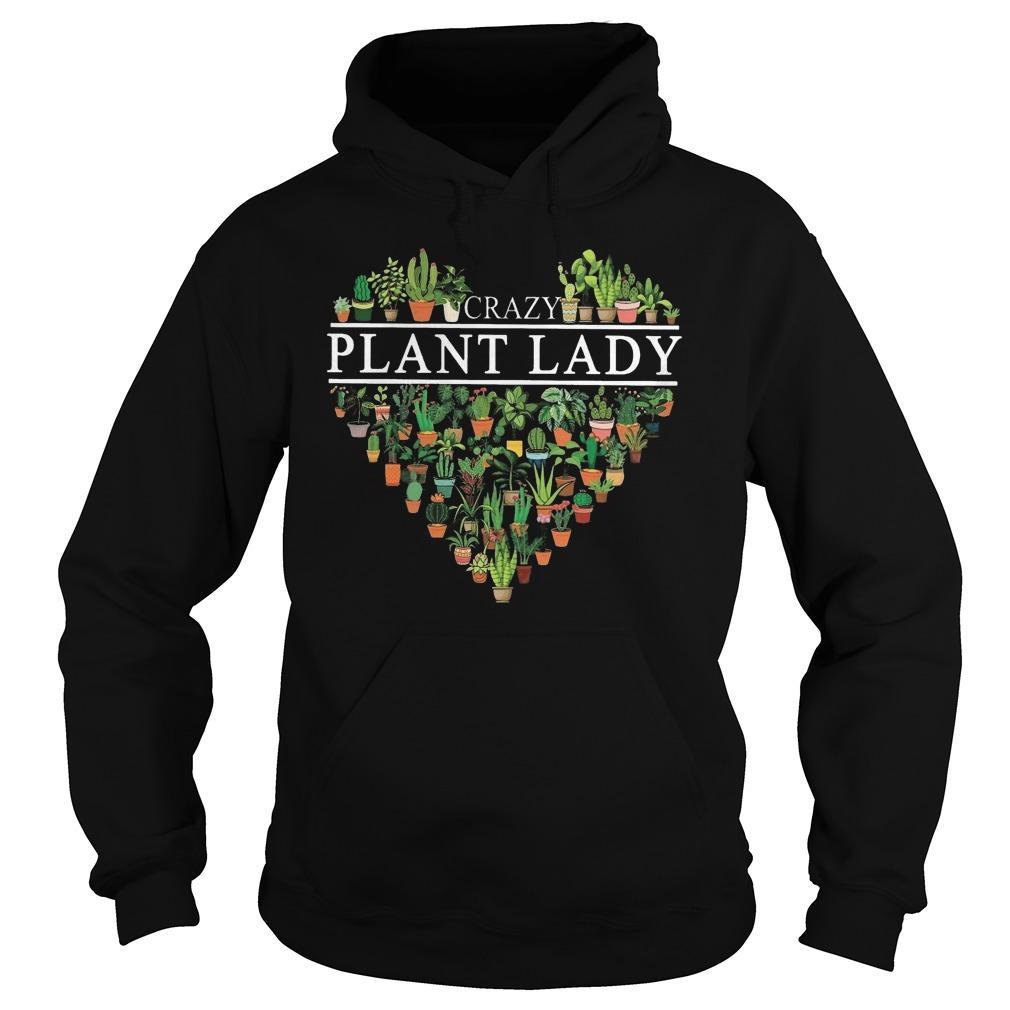 Heart Crazy Plant Lady Hoodie