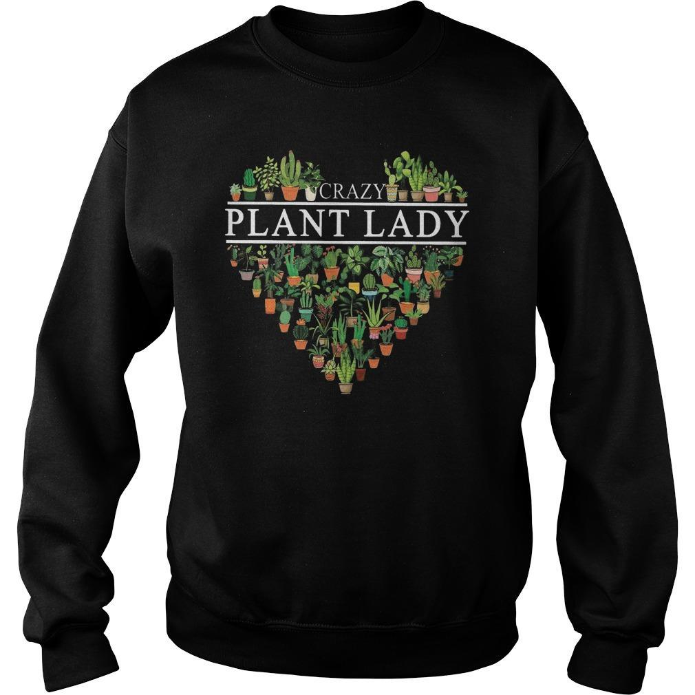 Heart Crazy Plant Lady Sweater
