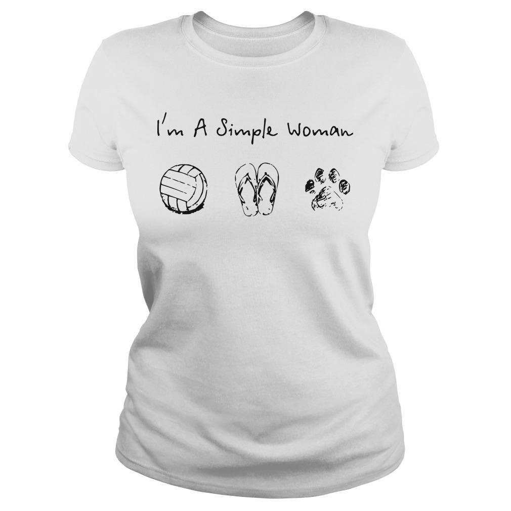 I'm A Simple Woman Like Volleyball Flip Flop Dog Hoodie