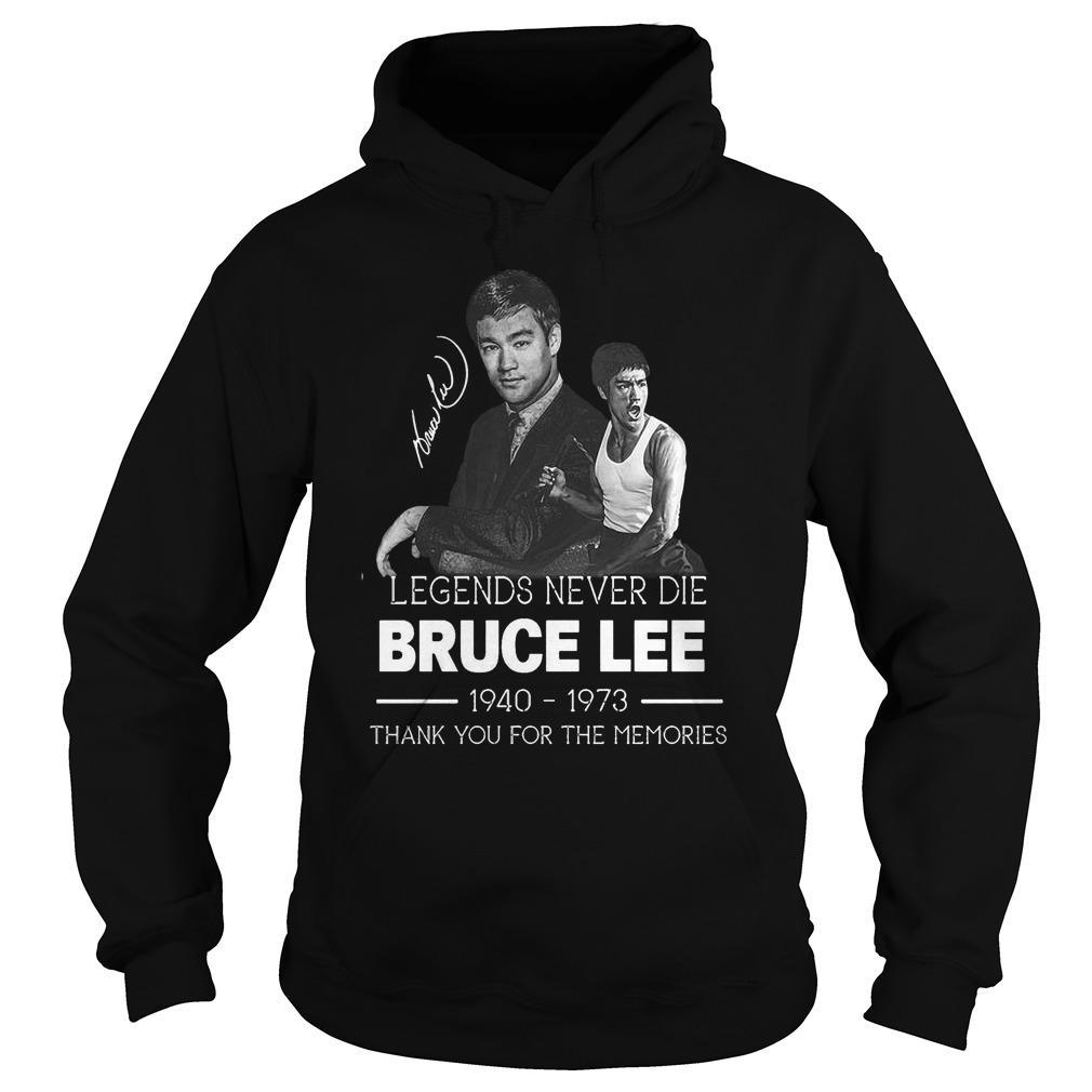 Legends Never Die Bruce Lee Thank You For The Memories Hoodie