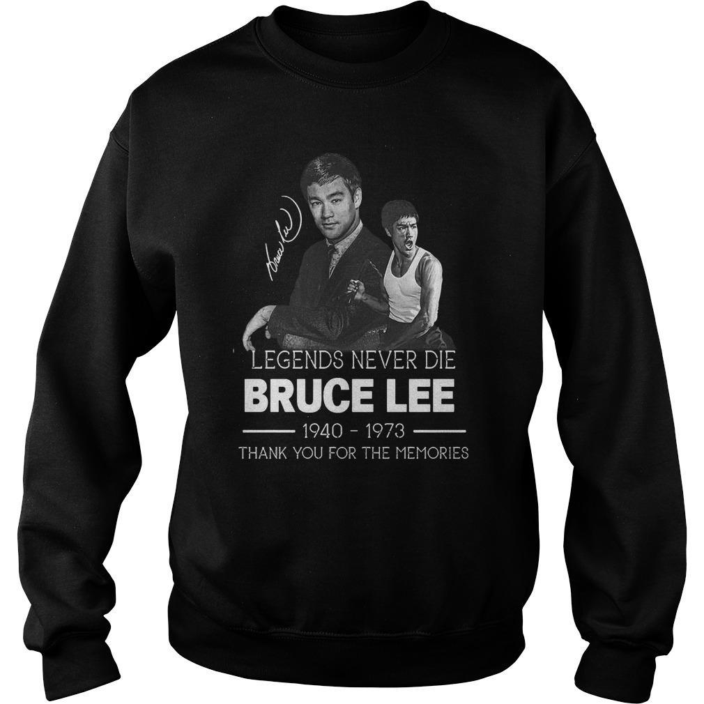 Legends Never Die Bruce Lee Thank You For The Memories Sweater
