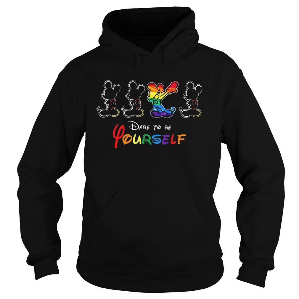 Lgbt Mickey Mouse Dare To Be Yourself Hoodie