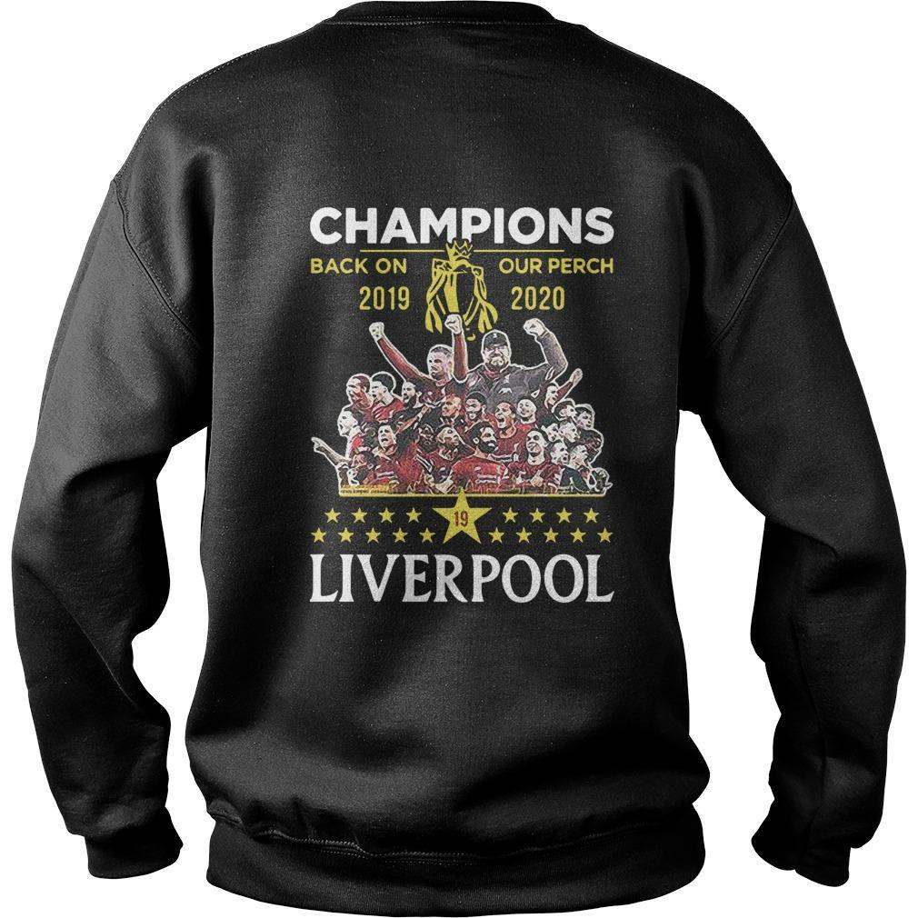 Liverpool Premier League Champions Back On Our Perch 2019 2020 Sweater