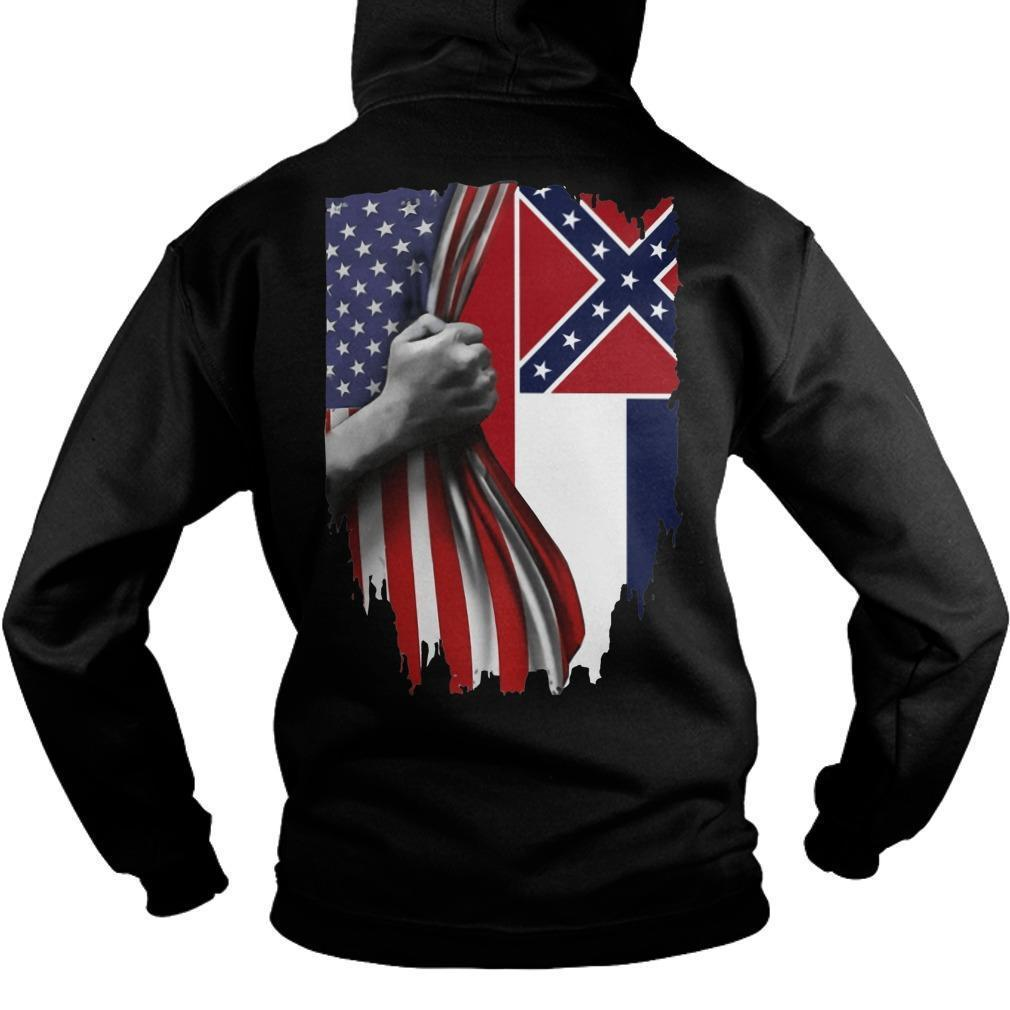 Mississippi And American Flag Hoodie