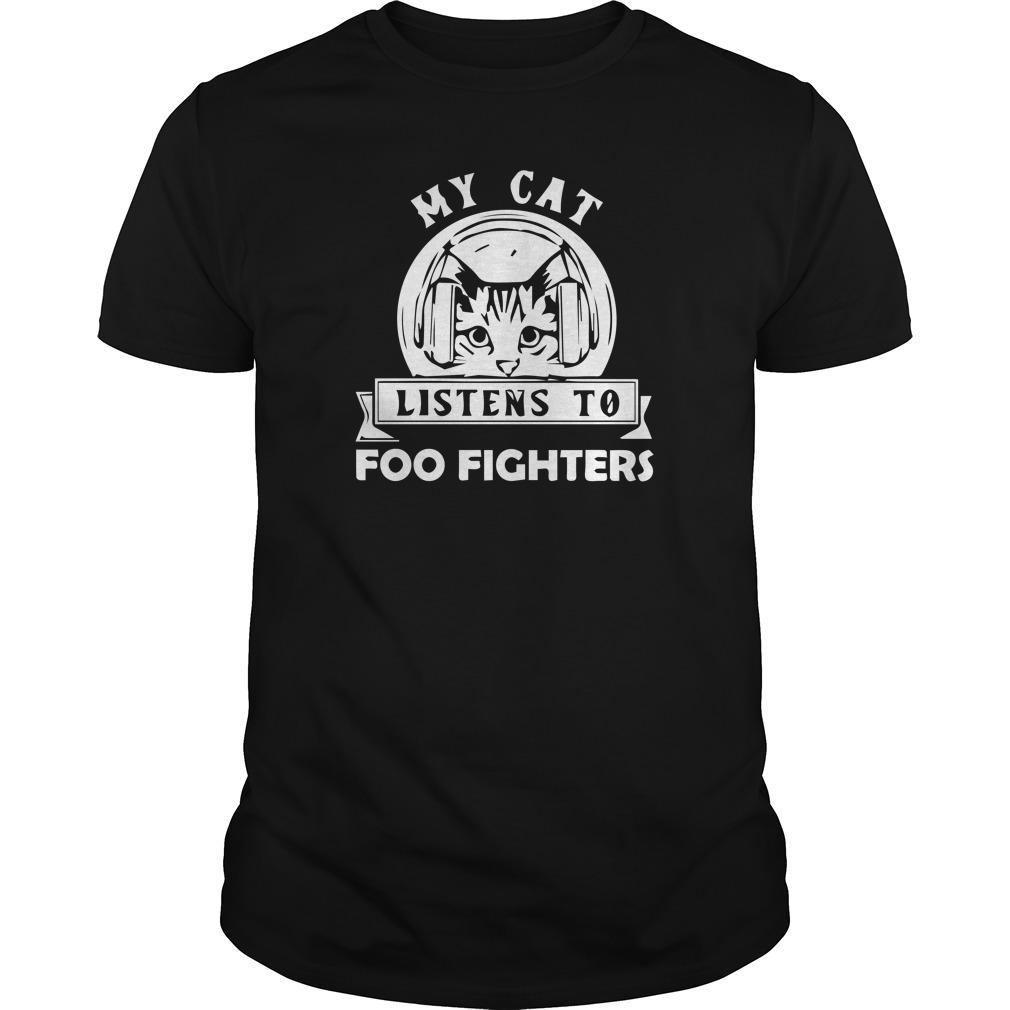 My Cat Listens To Foo Fighters Shirt