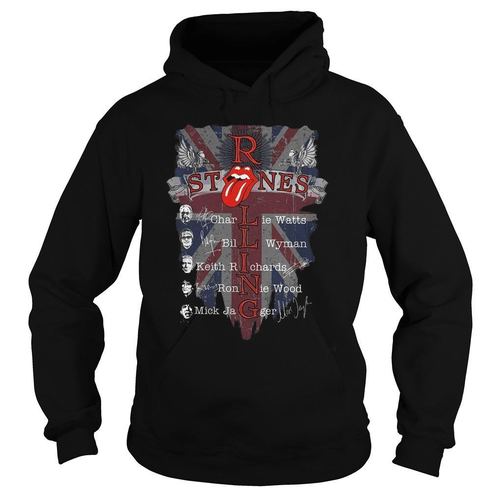 Rolling Stones Charlie Watts Bill Wyman Keith Richards Hoodie