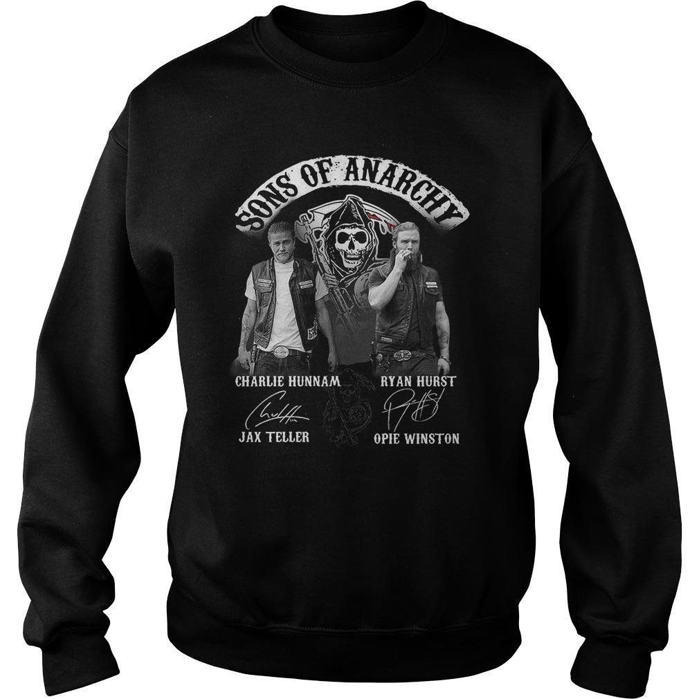 Sons Of Anarchy Charlie Hunnam Ryan Hurst Jax Teller Sweater