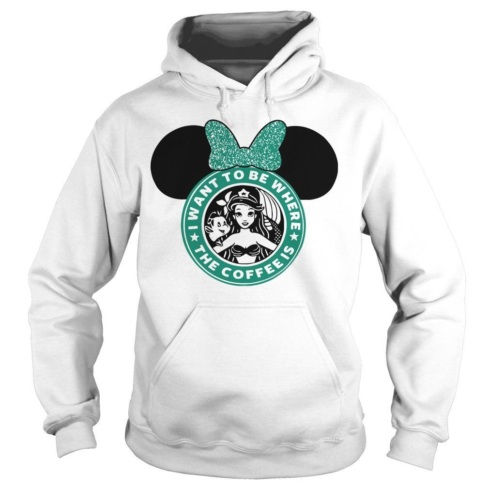 Starbucks Minnie Mouse I Want To Be Where Hoodie