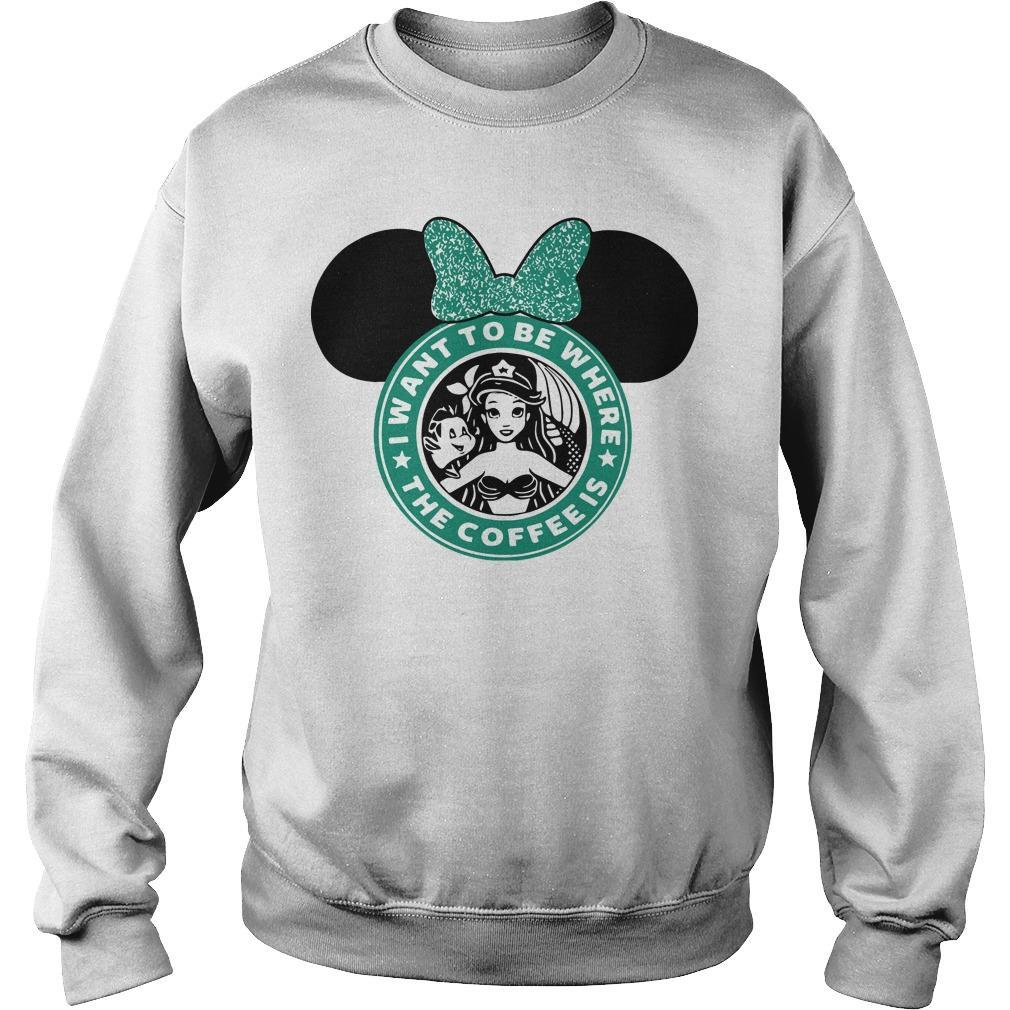 Starbucks Minnie Mouse I Want To Be Where Sweater