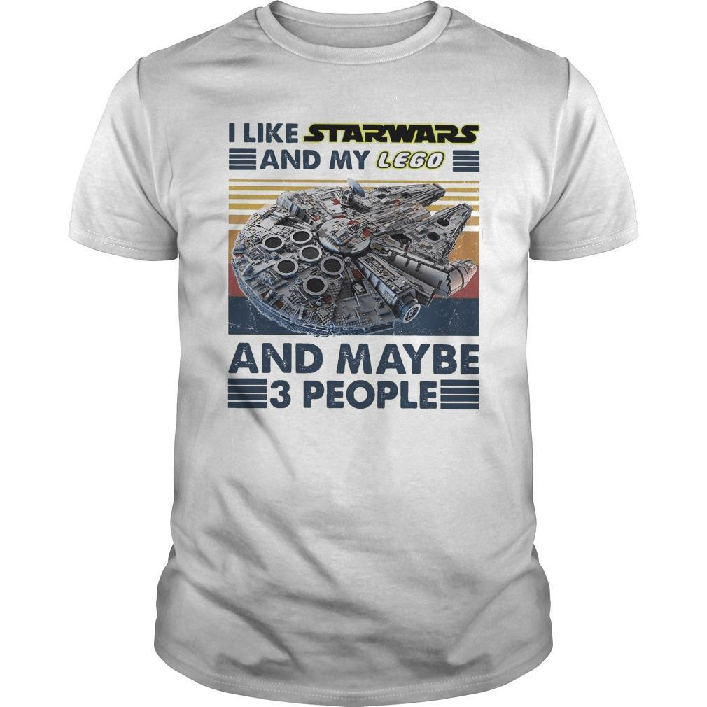 Vintage I Like Star Wars And My Lego And Maybe 3 People Shirt