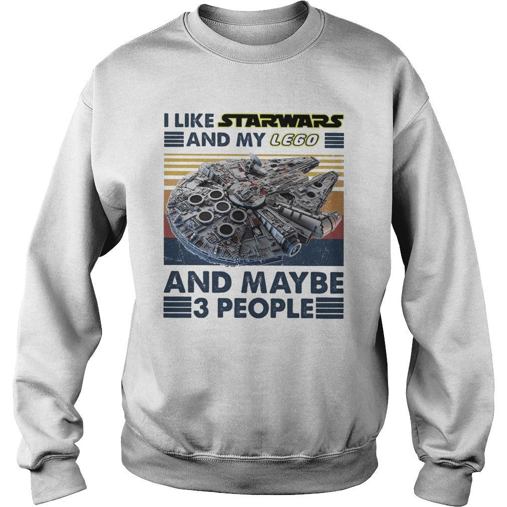 Vintage I Like Star Wars And My Lego And Maybe 3 People Sweater