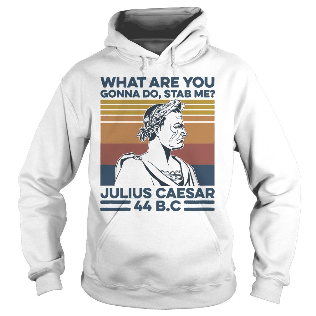 Vintage What Are You Gonna Do Stab Me Julius Caesar 44 Bc Hoodie