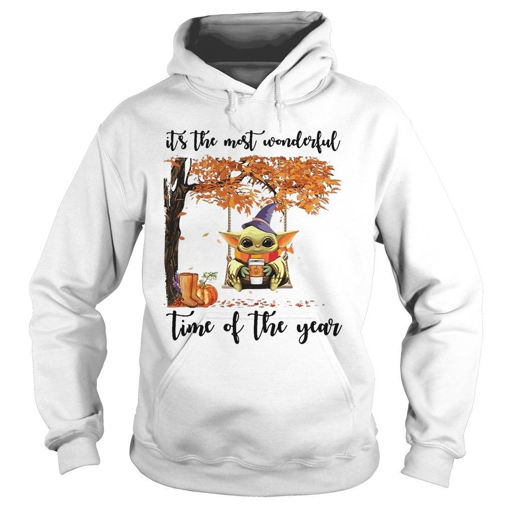 Baby Yoda It's The Most Wonderful Time Of The Year Hoodie