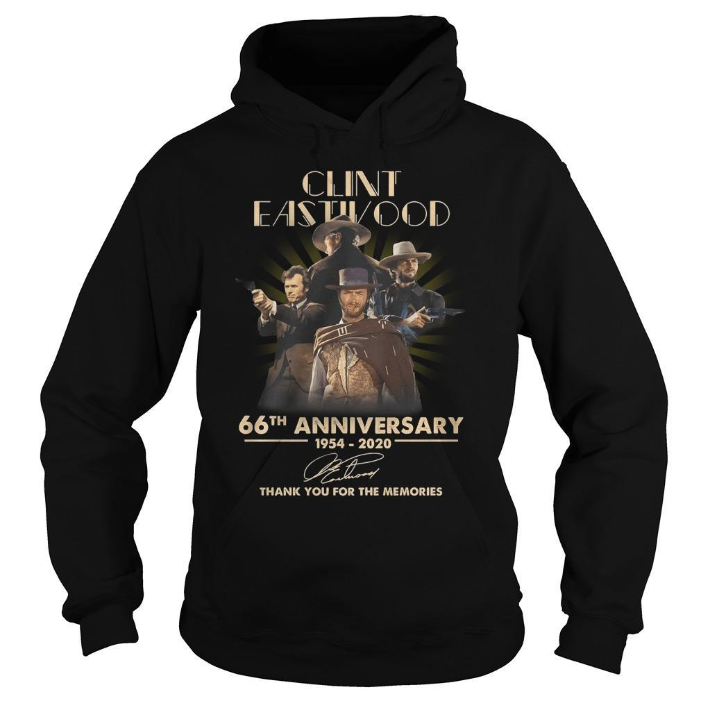 Clint Eastwood 66th Anniversary Thank You For The Memories Hoodie